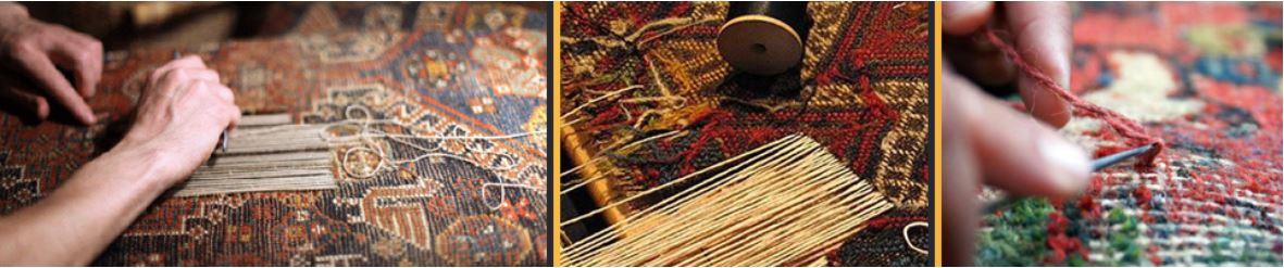 رفوگری فرش در اصفهان با همیشه تمیز